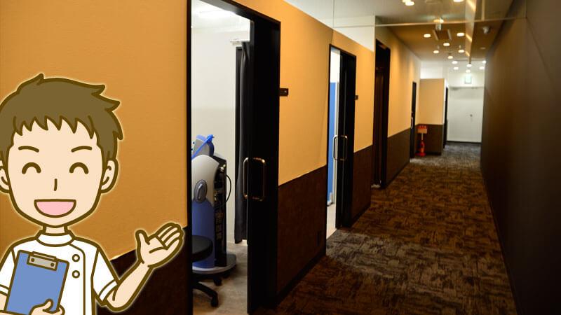 ゴリラクリニック町田医院施術部屋は24個