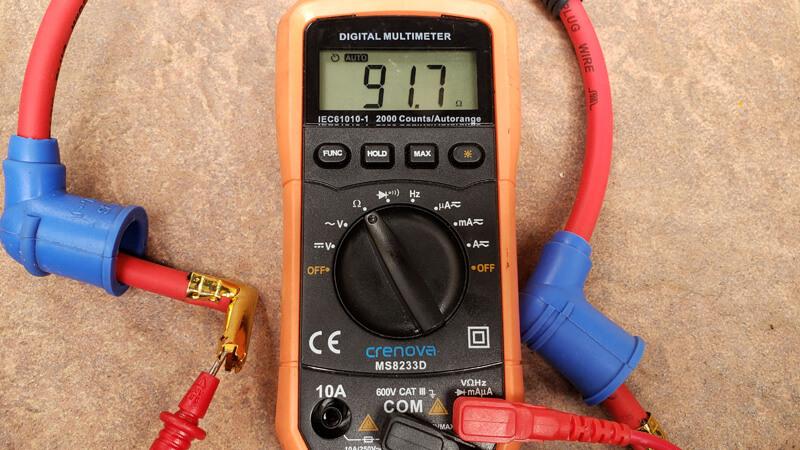 MSD コンダクタケーブルの抵抗を測定
