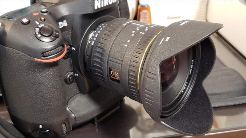 超広角レンズのカビ、塵、ホコリ取りの分解清掃 Sigma 17-35mm F2.8-4 EX ASPHERICAL