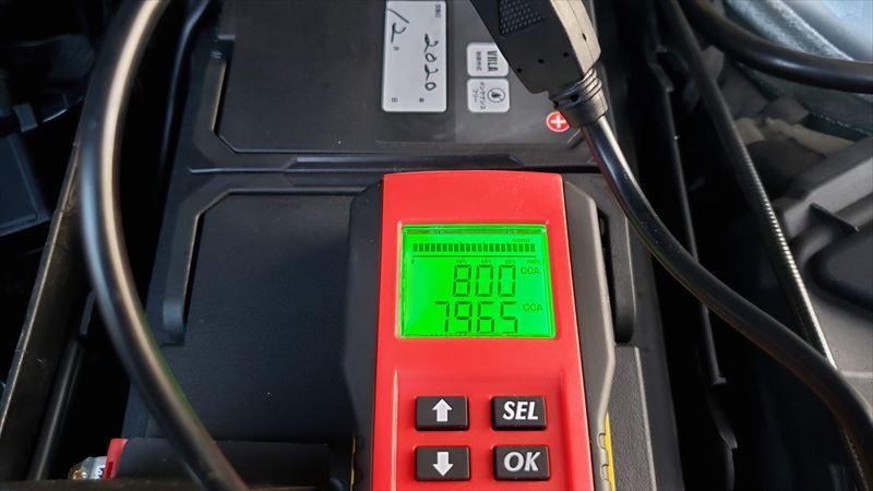 CLAのバッテリーのCCAは800